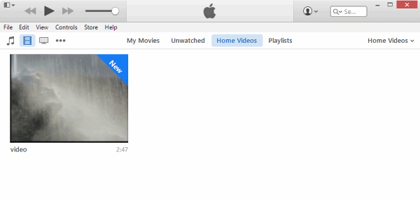 MP4 video imported to Home videos in iTunes 12
