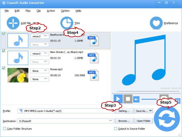 Convert VOC file to MP3