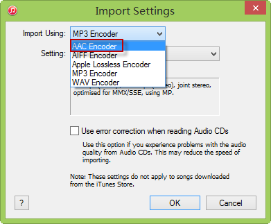 Set Encoder in iTunes 12