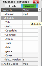 Add metadata to extracted audio