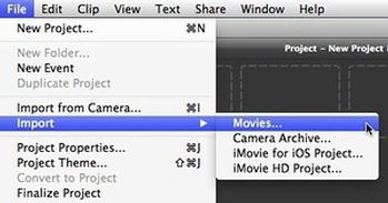Import video to imovie 10