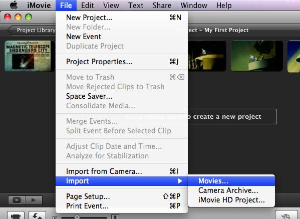 Import Sony Handycam to iMovie Converter