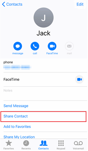 Copy Contacts to iPhone Xr, Xs, Xs Max from iPhone X/8/7/6/5 via Airdrop